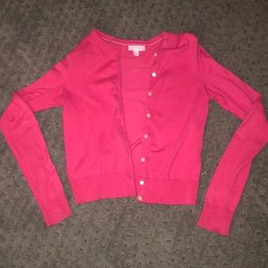 Lilly P hot pink sweater